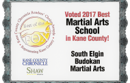 2017 Reader's Choice Voted THE BEST Martial Arts schools in Kane County, May 25, 2017