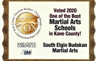 2020 – Kane County Reader's Choice - One of the BEST Martial Arts schools in Kane County!