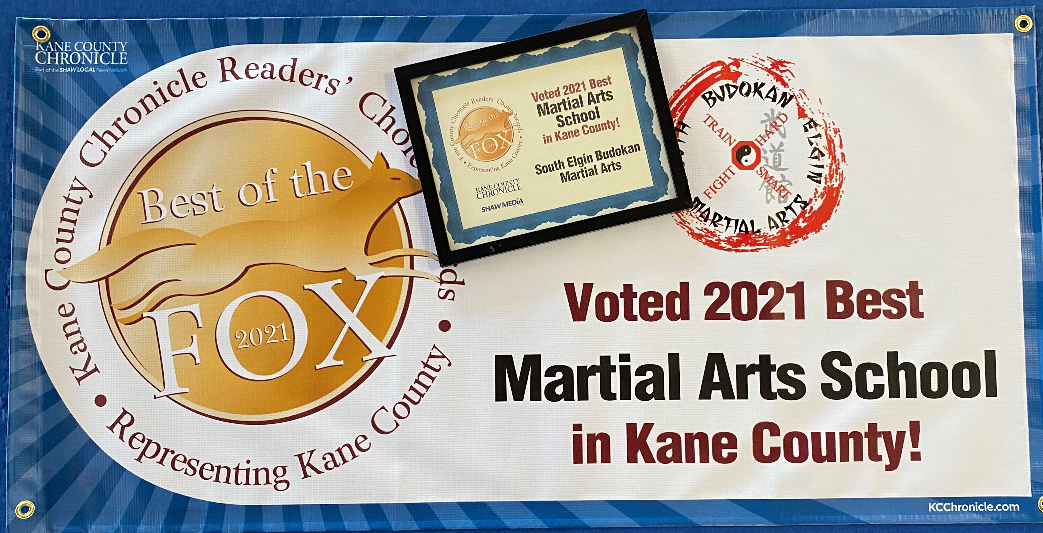 2021 – Kane County Reader's Choice - One of the BEST Martial Arts schools in Kane County!